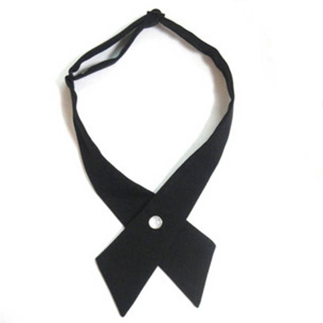 Fashion women's ascot crossover bowtie solid color Cross bow tie men's bow ties Free Shipping 50pcs./lot #0666