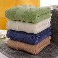 Bath towel 100% algodão liso tingido tecido liso grosso towel