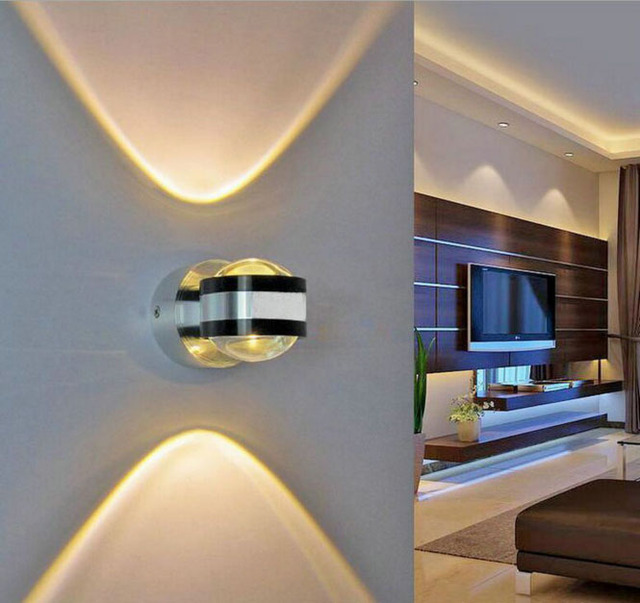 aluminum modern wall sconce up and down wall light 2w 6w led bathroom wall sconce