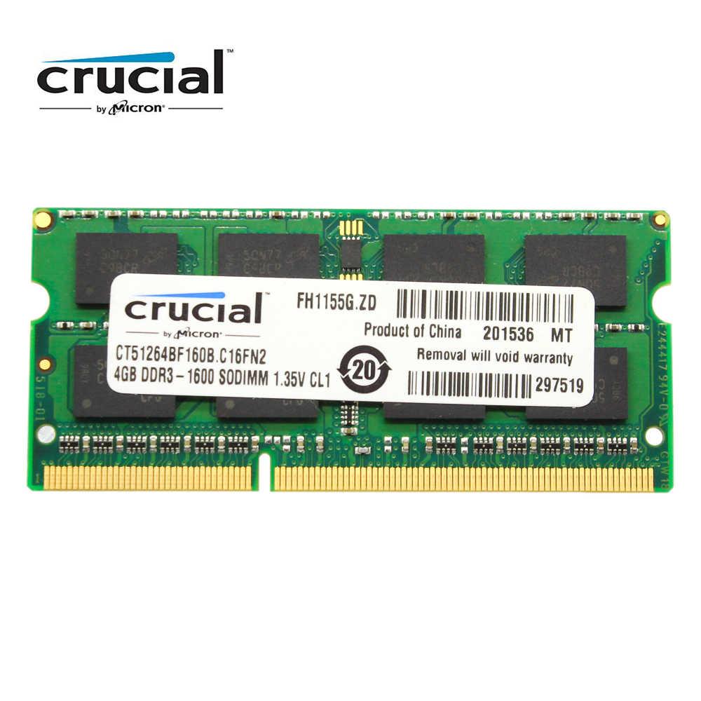 重要な RAM SO DIMM DDR3 DDR3L 8 ギガバイト 4 ギガバイト 1333MHZ 1066MHz 1600 SODIMM 8 ギガバイト 12800S 1.35 用のノートパソコンのメモリ