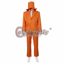 Cosplaydiy Dumb and Dumber Lloyd Christmas Suit Outfit Adult Men Halloween Carnival Cosplay Costume Custom Made D0420