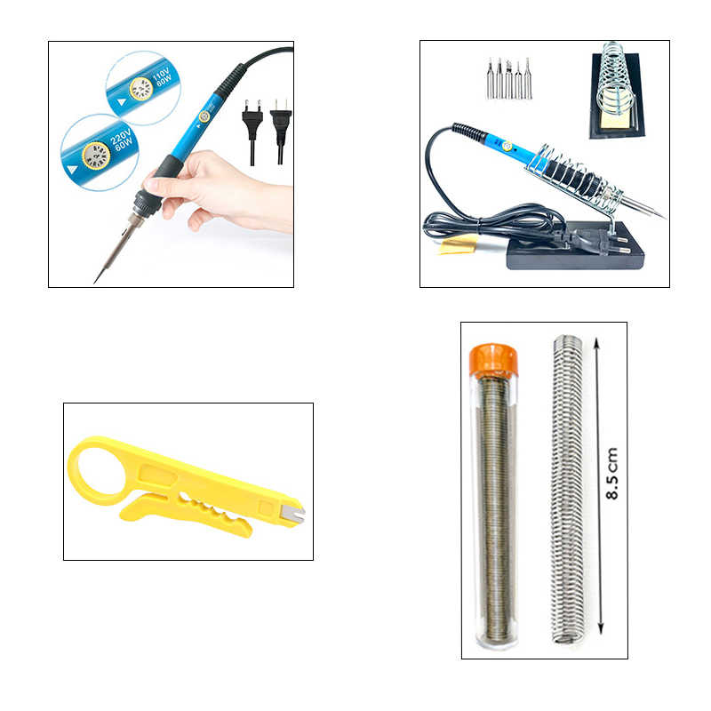 15-in-1 Soldering Iron Kit Electronic Welding Irons Repair Tool 60W Portable
