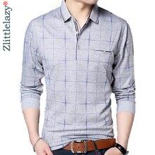 2018 fashion brand polo shirt men plaid fitness pocket camisa pol masculino streetwear mens polos shirts sweatshirts poloshirt