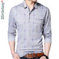 2019 camiseta polo de marca de moda para hombre a cuadros con bolsillo de fitness camisa polen streetwear para hombre polos camisas sudaderas poloshirt