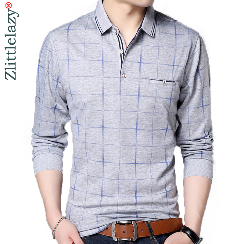 2019 fashion brand   polo   shirt men plaid fitness pocket camisa pol masculino streetwear mens   polos   shirts sweatshirts poloshirt