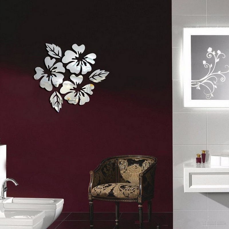 3D sticker new design flowers art sofa bed background modern ...