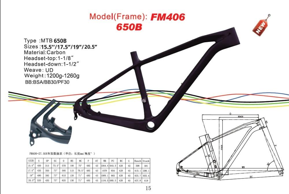 цена на free shipping 27.5er carbon MTB frame carbon 650B MTB frame Frame 2016 newest 27.5 er hardtail frame