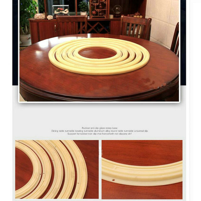 HQ Environmental Anti Slip ABS Material 32IN/80CM OD Swivel Turn Table Larizonay Lazy Susan for Round Dining Table