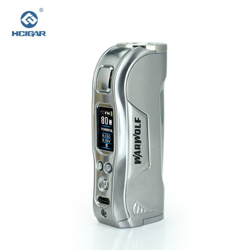 Оригинальный HCIGAR Warwolf 510 нить электронная сигарета мод выход 1-80 Вт и температурный режим испаритель питание 18650 батарея мини коробка мод