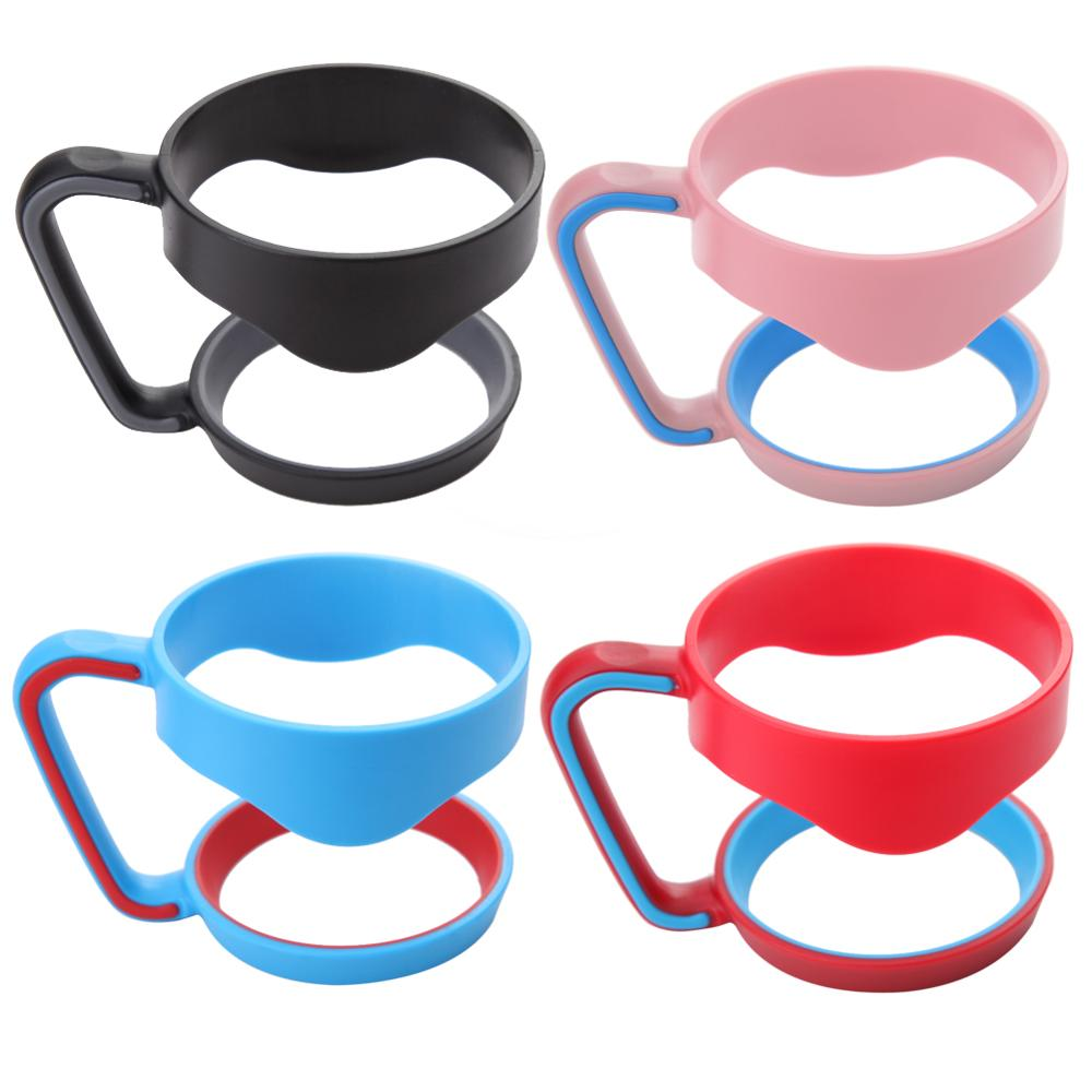 Portable Hand Holder Plastic Cups Handle for 30 Oz <font><b>YETI</b></font> Rambler Tumbler Handle Fit For 30ounce Cup Mugs Black Blue <font><b>Pink</b></font> Red
