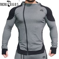 In 2017 The New Fashion Men S Zipper Sweatshirt And Clothing Brand Of The Fitness Man