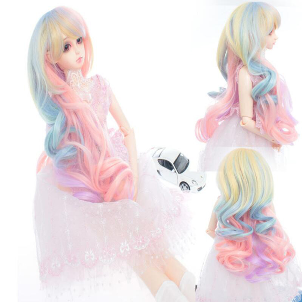 New Fashion Dolls Wigs Fantasy Doll Curly Hair with Band Wig Hairpiece for 1/3 BJD SD DIY Making Dolls Accessories Dolls Gift champagne fur wigs available for 1 3 1 4 1 6 bjd sd wigs short wig for diy dollfie doll accessories