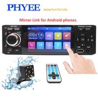 4 Touch Bluetooth Car Radio 1 Din Mirror Link Autoradio Stereo Audio MP5 Video Player USB MP3 TF ISO In dash Head Unit JSD 3001