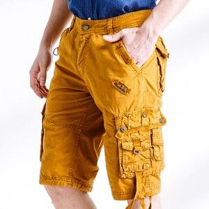 Image 3 - Quân đội Ngụy Trang Cargo Shorts Làm Việc Bermuda Nhiều Túi Thương Hiệu Quần Áo Baggy Shorts Quân Sự 100% Cotton Thường Ngắn Homme 252