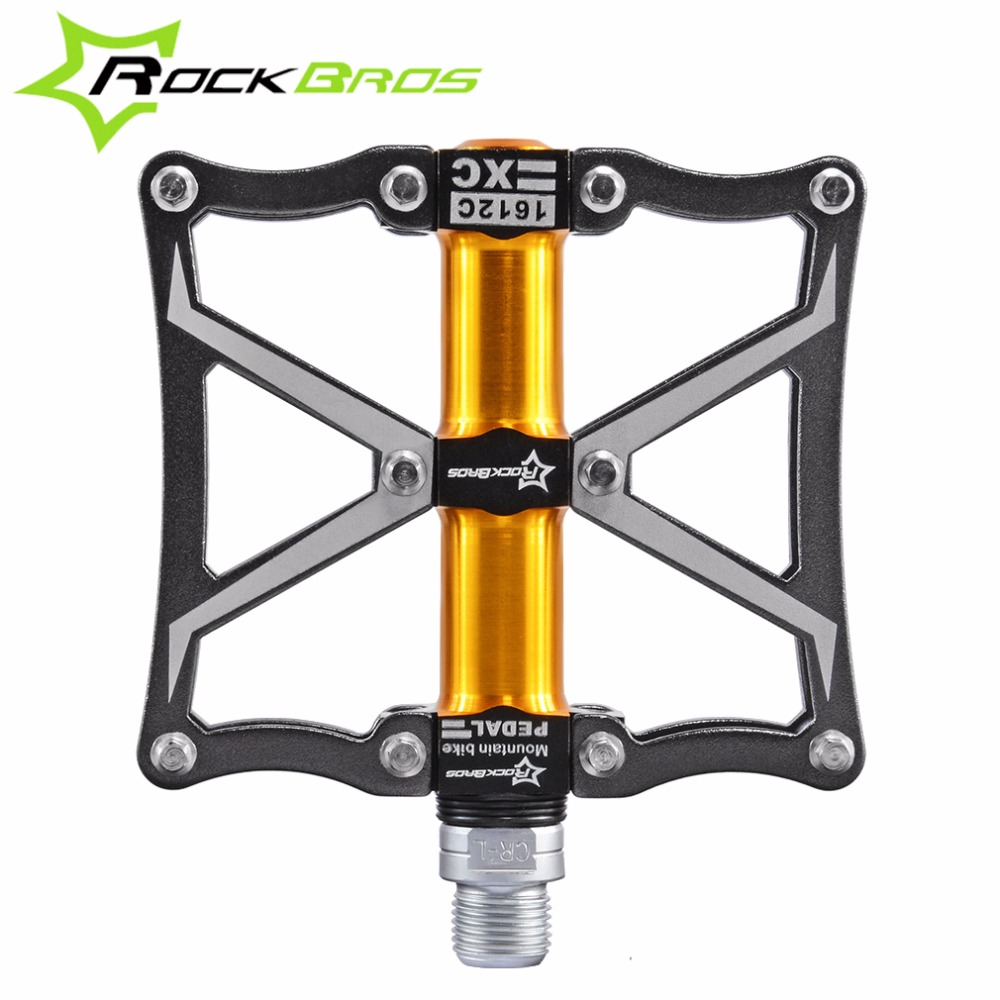 ROCKBROS Ultralight MTB Bicycle Mountain Bike Pedals Cycling Pedals Road Magnesium Bearing Axle Sealed 4 Bearing Spindle Pedals rockbros bike mtb pedals magnesium alloy titanium spindle platform pedals cycle bicycle cycling 9 16 sealed pedales 5 colors