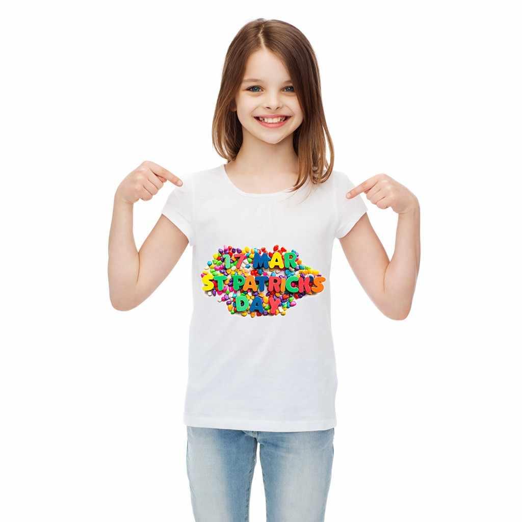 2019 新夏 Tシャツ販売価格削減幼児キッズベビーガールズボーイズ StPatricks 日シャムロックアイルランドのナショナルデートップス 20 *