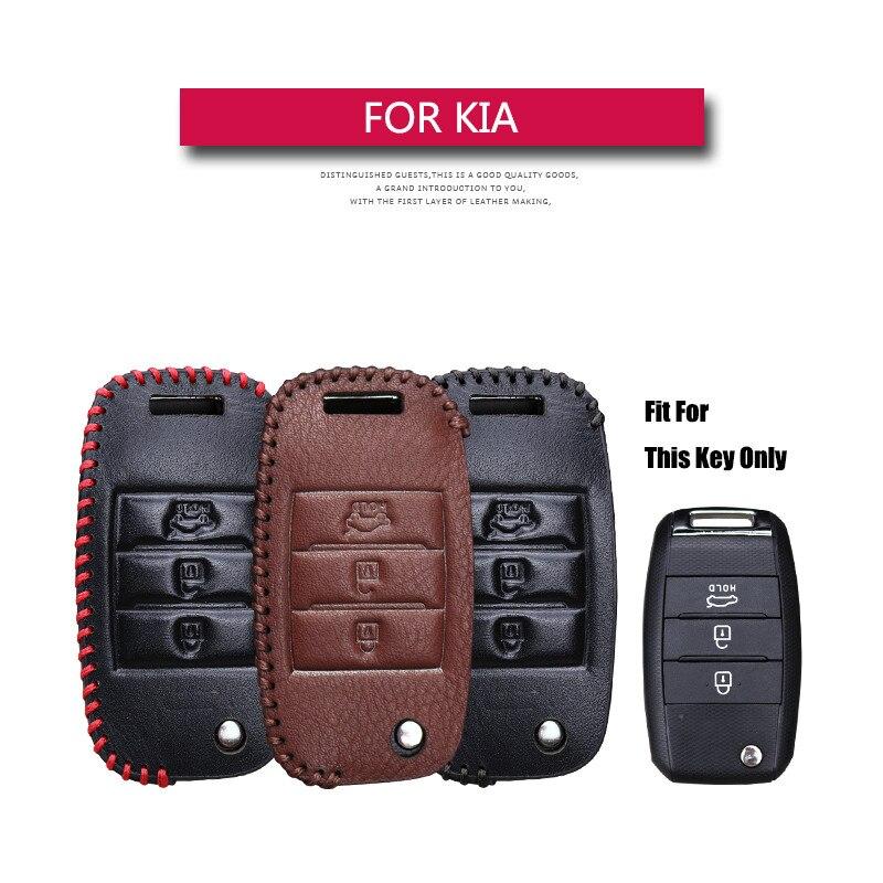 KUKAKEY Leather Car Key Cover Case For KIA Rio Sportage QL Ceed Optima Sorento Cerato K2 K3 K4 K5 Picanto Car Key Shell Bag