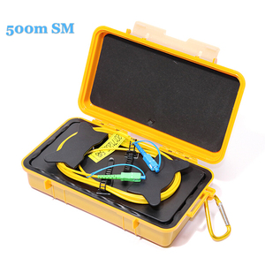 Image 1 - KOLC SM 500, Komshine 500m jednomodowy OTDR skrzynka z przewodami rozruchowymi, pierścień z włókna, Eliminator strefy martwej OTDR multi connectors