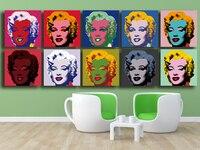 Andy warhol 10pc marilyn monroe arte da parede pintura a óleo impressões pintura sobre tela sem quadro fotos para sala de estar presente paisagem