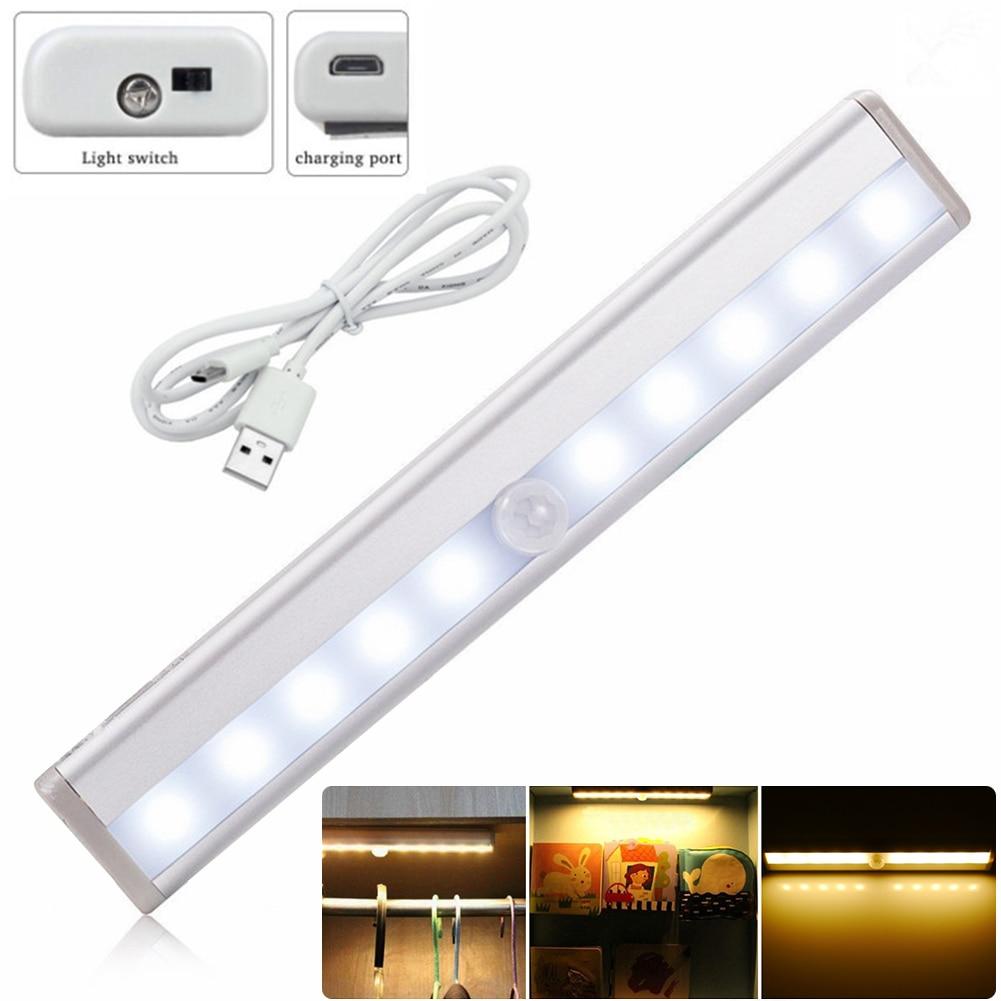 LightInBox Free Shipping Wireless Closet Drawer Wall Garage Lamp Rechargeable LED PIR Motion Sensor Night Light