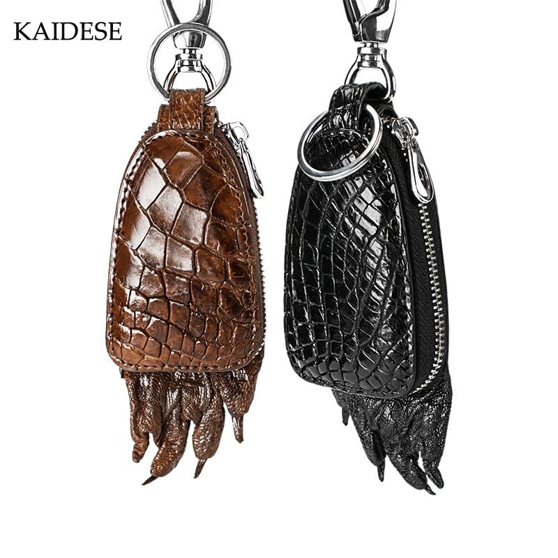 KAIDESE high-end luxury real leather alligator car key bag business portable crocodile key bag paw kaidese 100% thai crocodile leather hand work system for 2017 new style real leather alligator bag lady big capacity hand bag