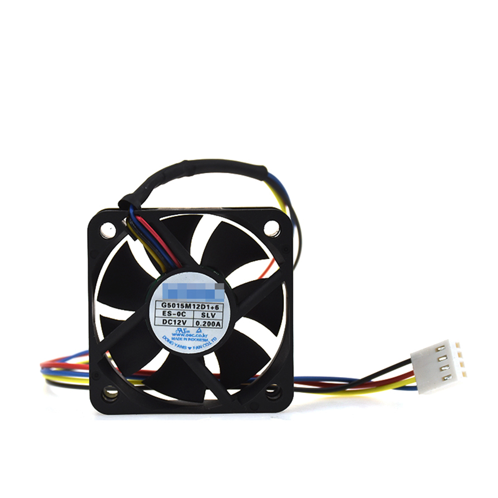 For NONOISE G5015M12D1+6 12V 0.2A 50*50*15mm 4pin PWM Car Audio Cooling FanFor NONOISE G5015M12D1+6 12V 0.2A 50*50*15mm 4pin PWM Car Audio Cooling Fan