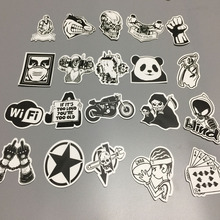 Special Edition 100 Pcs B&W Waterproof PVC Stickers No Duplicate