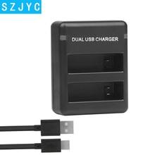 цены на For AHDBT-401 USB Dual Port Battery Charger for Gopro Hero 7 6 5 4 Black Silver Camera with USB Cable Go pro Hero 6 Accessory  в интернет-магазинах
