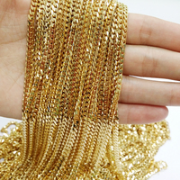 High Quality 6mm Wide 316L stainless steel chain necklace men Silver Gold curb Cuban chain necklace vintage men jewelry