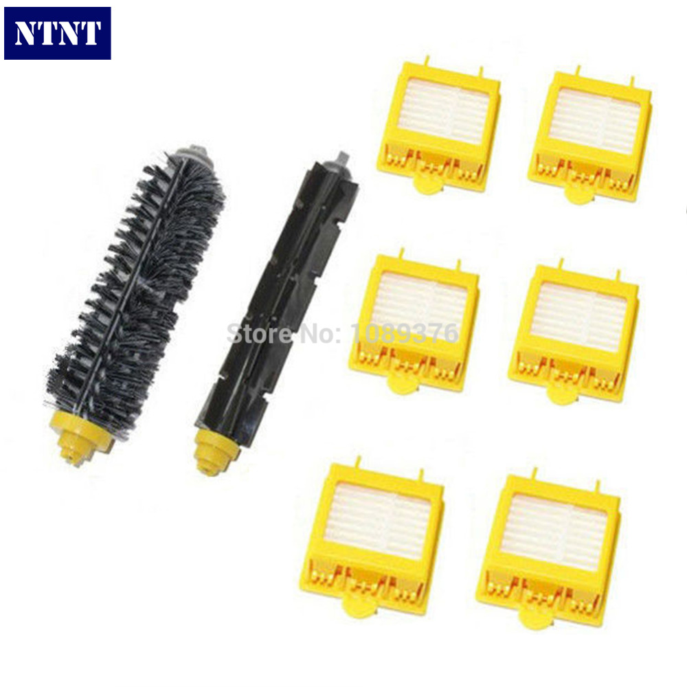 NTNT Free Post Replace Brush & 6 x Filters kit for iRobot Roomba 700 Series 760 770 780 New ntnt free post new replace 2 pack brush filter mini kit for irobot roomba 700 series 760 770 780