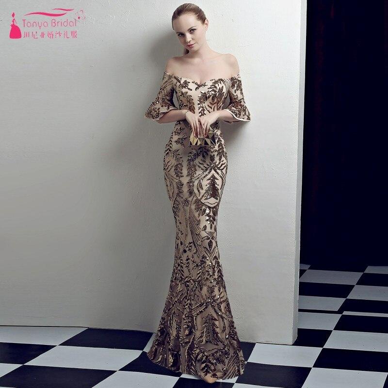 Золото/серебро/красные/черные блестящие Русалка Вечерние платья этаж Длина Для женщин вечерние платья ночное ZE079