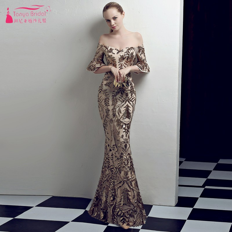 Gold/silver/red/black Sparkly Mermaid Evening Dresses Floor Length Women Formal Prom Gowns Nightwear Ze079 Weddings & Events