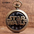 Bronze STAR WARS Sci-fi Science fiction movies Quartz Pocket Watch Necklace Chain Pendant Mens Womens Watches Relogio De Bolso