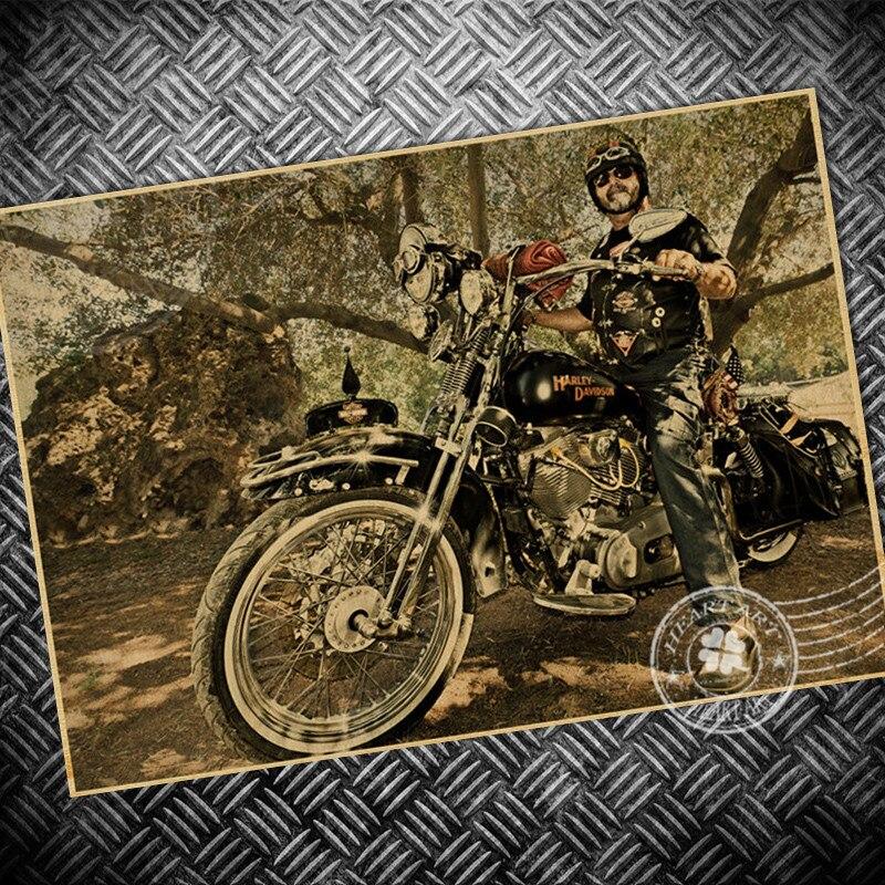 Piloto De Papel Da Motocicleta Do Vintage Poster Retro Impressao