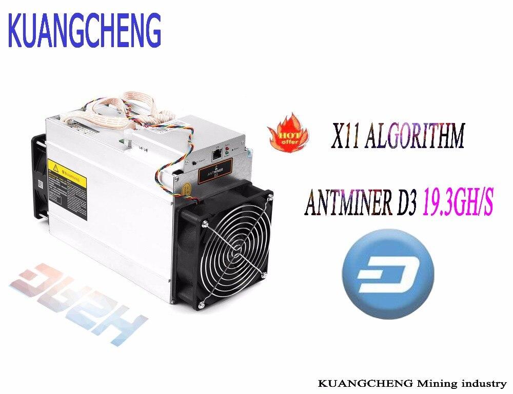 DASH miner ANTMINER D3 19.3GH/s (no psu) BITMAIN X11 dash mining Asic Miner machine can miner BTC on nicehash spot goods antminer s5 1155 gh s asic miner bitcon miner 28nm btc mining sha 256 miner power consumption 590w