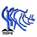Mofe 10 шт. 3ply Силиконовые Радиатор Охлаждения Шланг Комплект Для Honda Civic Нью-fd1 R18 K12 Синий