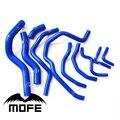 Mofe 10 pcs 3ply silicone kit mangueira do líquido de arrefecimento do radiador para honda new civic fd1 r18 k12 azul