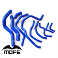 Mofe 10pcs 3ply Silicone Radiator Coolant Hose Pipe Kit For Honda New Civic FD1 R18 K12 Blue