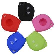 Jingyuqin 2 Button Remote Silicone Car Key Case Fob Protect Cover for Mazda Suzuki SX4 Swift Vitara Styling