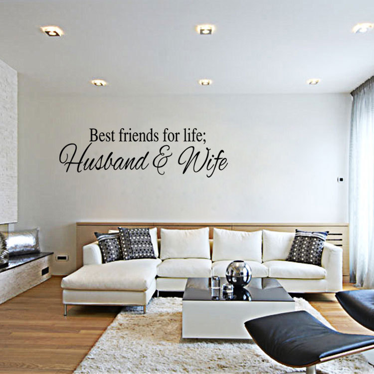 Best Quotes For Living Room: Aliexpress.com : Buy Best Friends For Life Husband & Wife