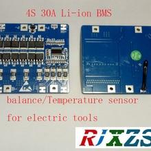 4S 30A lipo литий-полимерный BMS/PCM/PCB плата защиты батареи для 4 пакетов 18650 литий-ионный аккумулятор с балансом с температурой