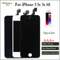 Mobymax 5PCS AAA Pantalla For IPhone 5 5S 5C SE LCD Display Screen With Original Digitizer