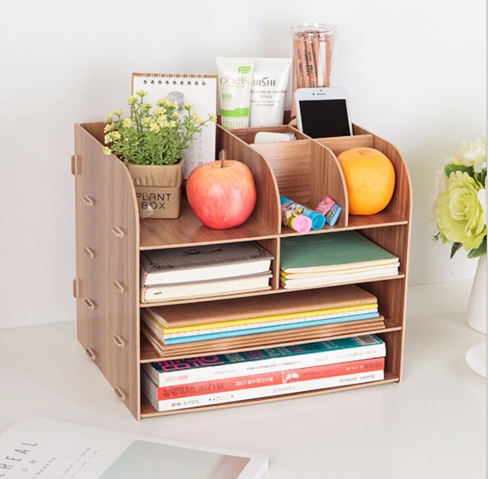Wooden DIY Horizontal Desk Organizer for File Folder ...