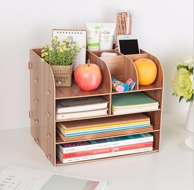 Wooden Diy Horizontal Desk Organizer For File Folder Literature Notebook Drawer Like