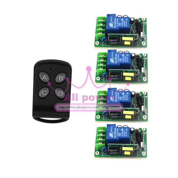 85v-250v wide range remote control outlet switch 315/433mhz wireless relay wireless rf 1ch electric curtain motor control switch dc24v remote control switch system1receiver