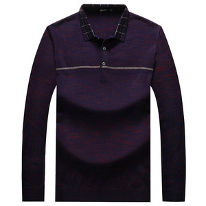 Image 3 - Plus 8XL 6XL Father Clothes Simple Comfortable Style Mens Sweater Long Sleeve Lapel Leisure Pullover Men Pull Homme Sweaters