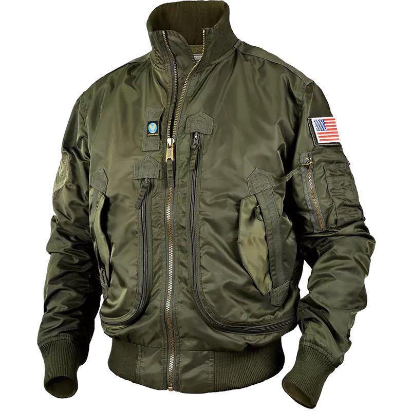Fashion Army Jackets Men Pilot Thin Jacket Men's Baseball Uniform Tactical Men's Bomber Jacket Stand-collar Jackets For Men