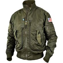 Fashion Army Jackets men pilot thin jacket men's baseball un
