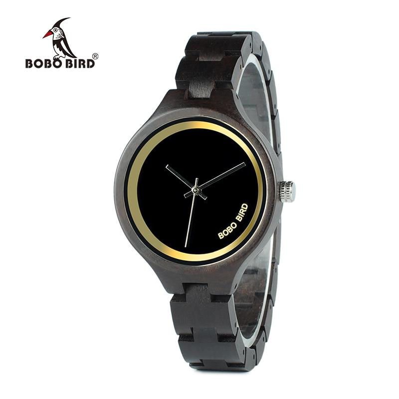BOBO BIRD V-P16 Natural Wood Women Luxury Watch Ladies Unique Quartz Wristwatch with Japan Movement
