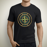 Easter New Island Printing Design Men T Shirt Good Quality Cotton Black Short Sleeve Island Stone